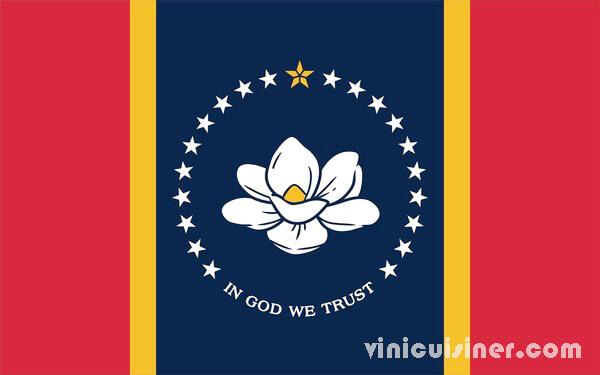 มิสซิสซิปปี อนุมัติธงกับแมกโนเลีย ผู้มีสิทธิเลือกตั้งในมิสซิสซิปปีได้อนุมัติธงประจำรัฐใหม่ที่มีแมกโนเลียและวลี In God We Trust มิสซิสซิปปี
