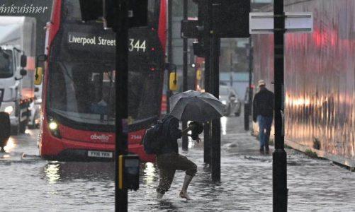 น้ำท่วมในลอนดอนเมืองไม่พร้อมสำหรับการเปลี่ยนแปลงสภาพภูมิอากาศ