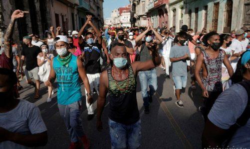ชาวคิวบา หลายพันคนเข้าร่วมในการประท้วงต่อต้านรัฐบาล